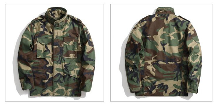 Wholesale M65 Digital Woodland camouflage army printed jacket,Military Army Winter Jacket