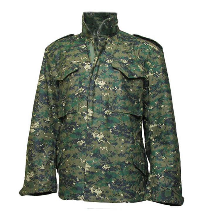 Wholesale M65 Digital Woodland camouflage army printed jacket,Military Army Winter Jacket Featured Image