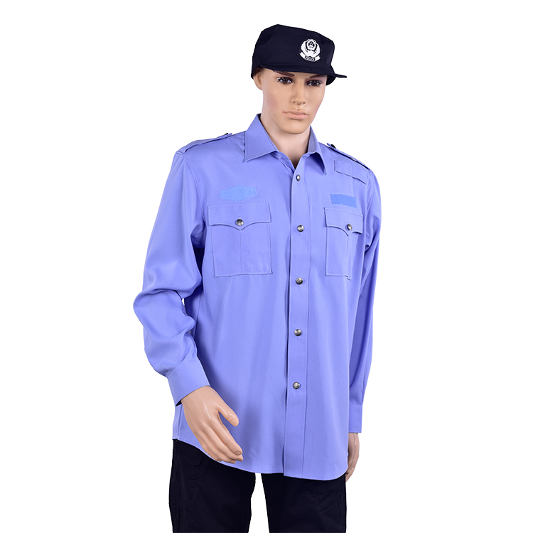 Wholesale private  security officer uniform security wear guard uniform navy blue security uniform shirts,men african shirt