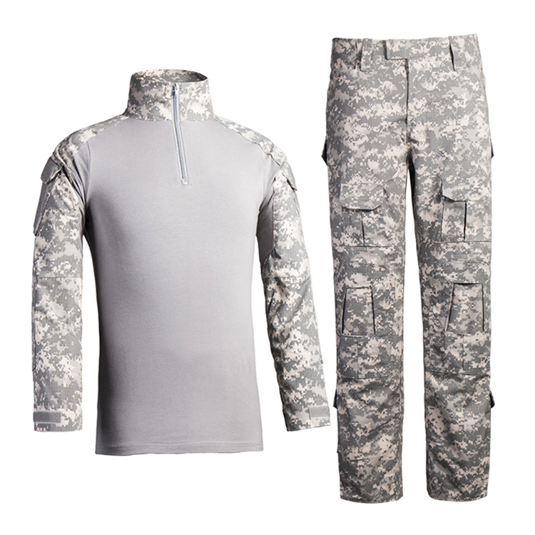A complete set of Outdoor Military Uniforms Universal Camo Tactical suit