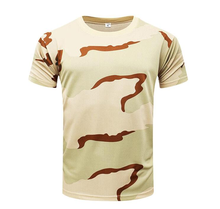 Desert military uniform Tri-color desert camo short sleeve t shirt camouflage t-shirt custom