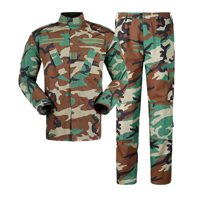 Wholesale  Military Uniform Security Guard Uniforms Woodland Camouflage uniform