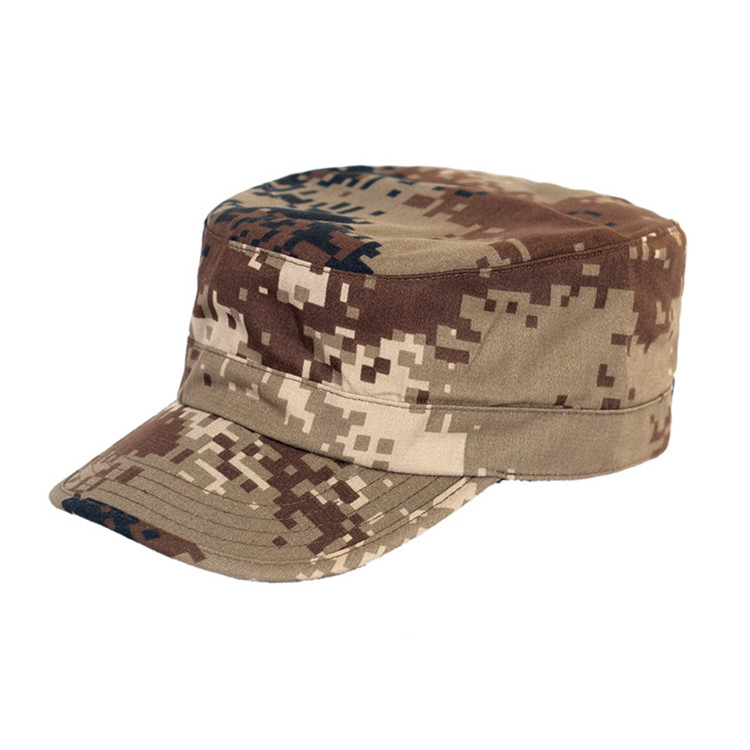 New style custom military officer cap desert camouflage hat