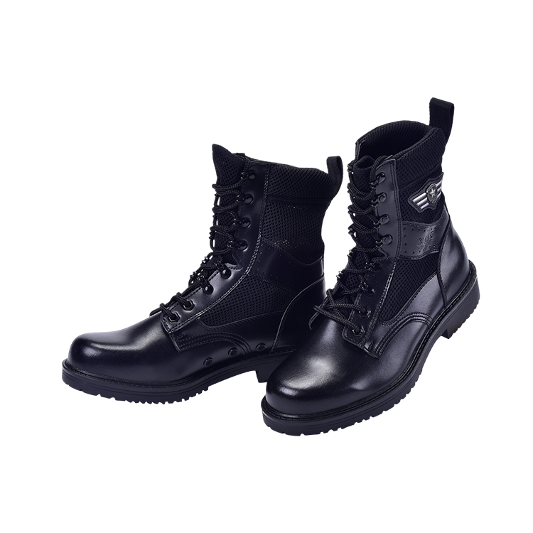 Fixed Competitive Price Military Equipment Supplier – New Design  winter military boots shoes,Army Jungle Black Leather Tactical Combat Military Boot – Junyiku
