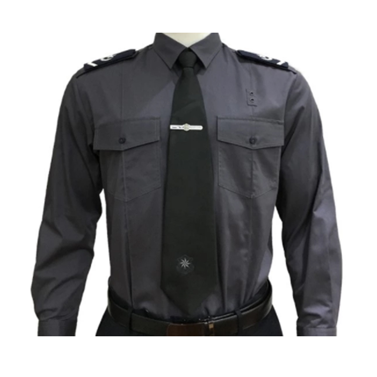 Wholesale 100% cotton t shirt custom security guard  police polo shirt