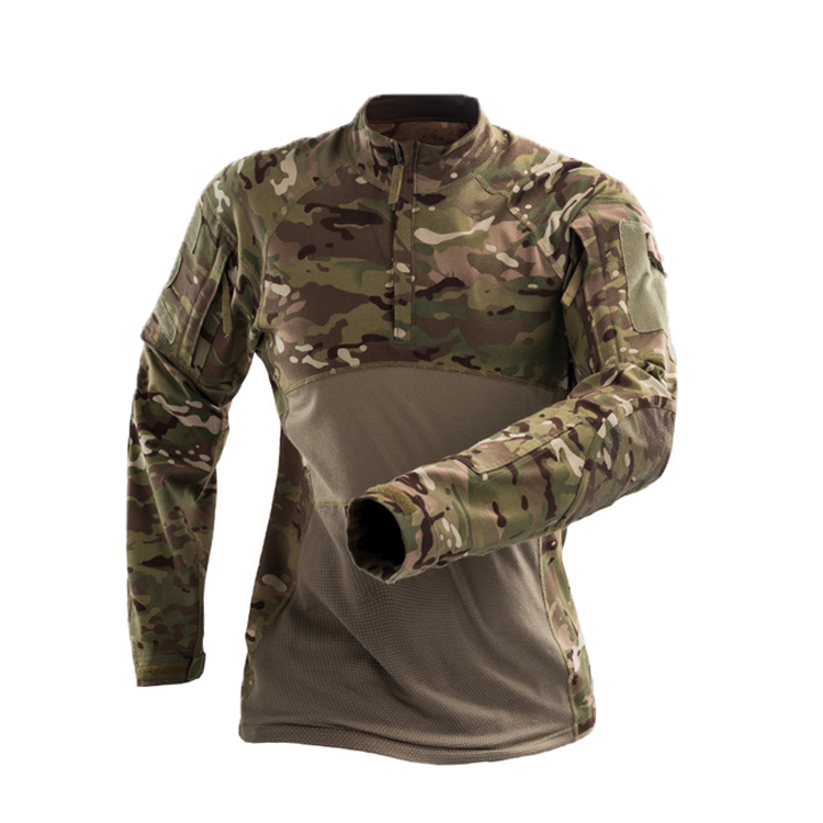 Long Sleeve Army CP Camouflage Frog Uniform ,Camo Shirt Combat Frog Style Tactical Shirt