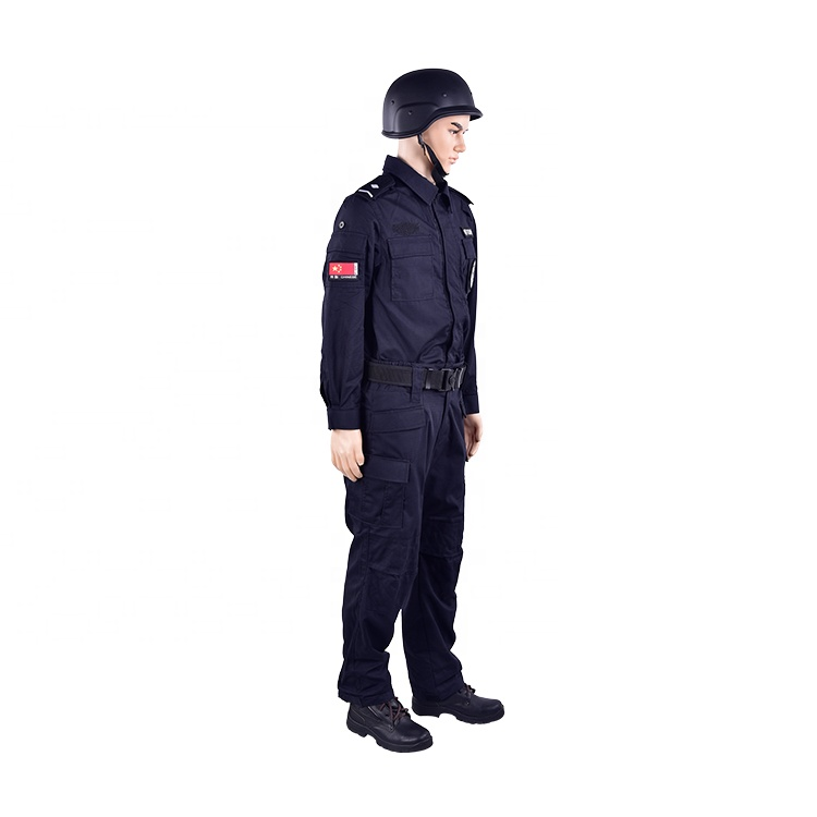 High quality long sleeve security uniforms jacket security guard winter uniform jacket