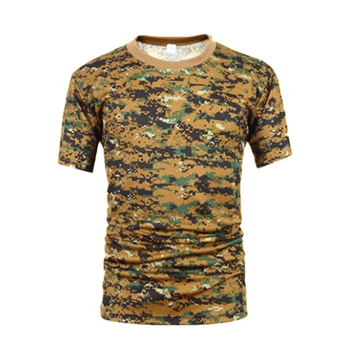 Wholesale high quality Military  Digital jungle  camouflage T-Shirt  men
