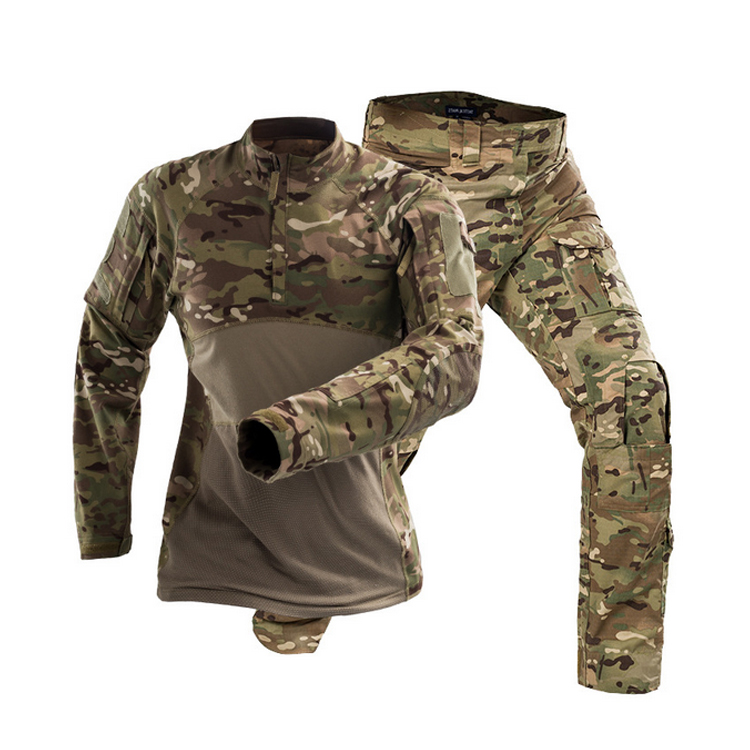 OEM Service Outdoor CP Camo Tactical Suit Long Sleeve Frog Suit Uniform
