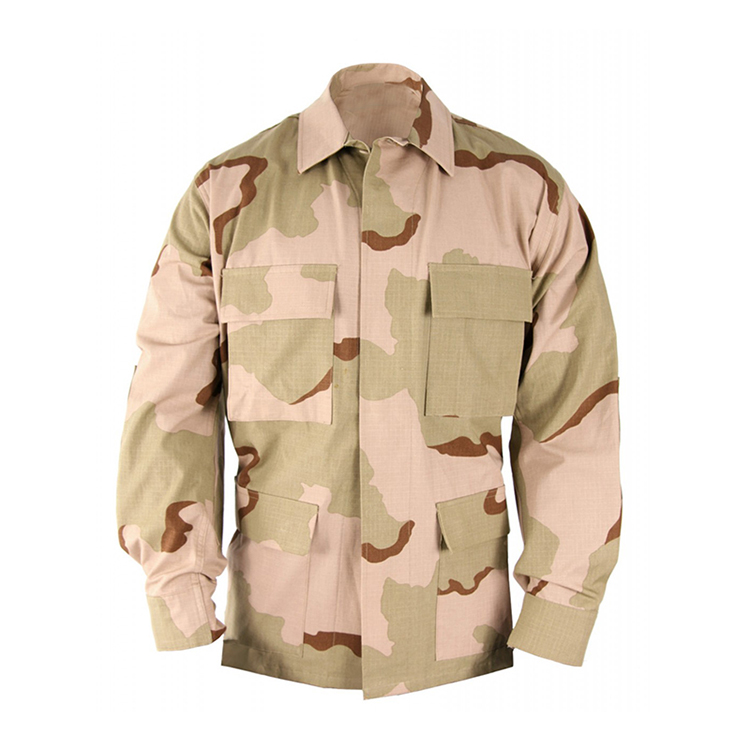 Military Uniform Wholesale 65%polyeste 35%cotton BDU tricolor desert camouflage uniform
