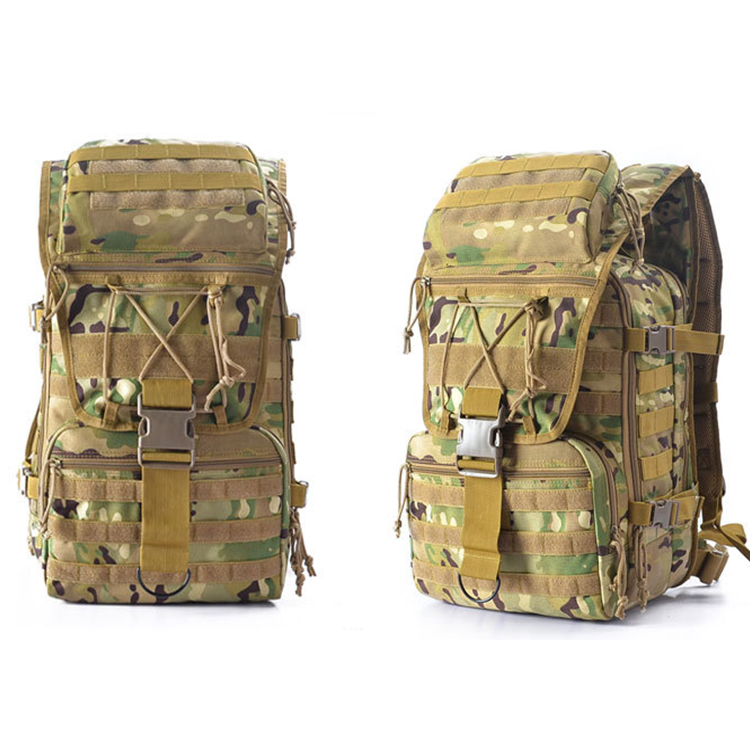Wholesale Custom Outdoor Army Waterproof Military Backpack Camouflage Camping Bag Tactical Backpack