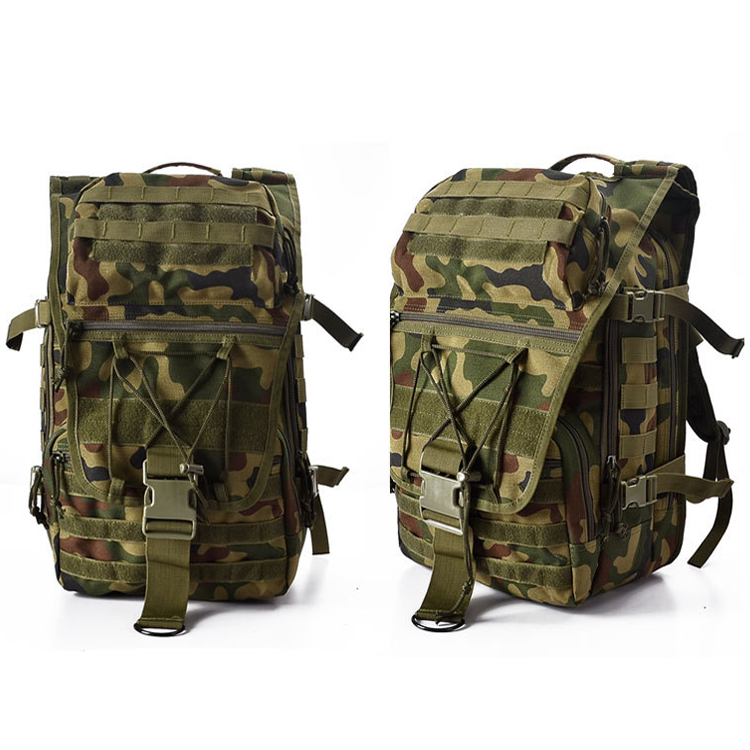 Wholesale Custom Outdoor Camping Hiking Waterproof Camouflage Backpack  600D 45L Big Military Tactical Backpack