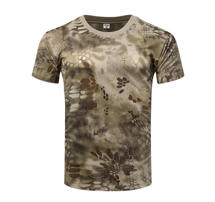 2019 green python camouflage military  t-shirt camouflage t-shirt in factory price