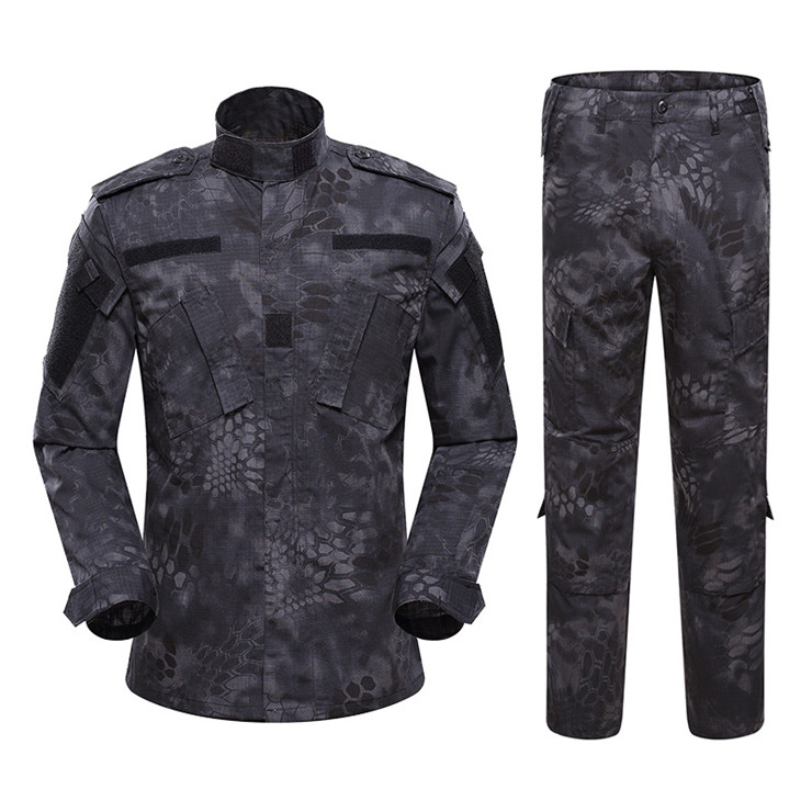 Wholesale python black camouflage uniform ,camouflage uniform set