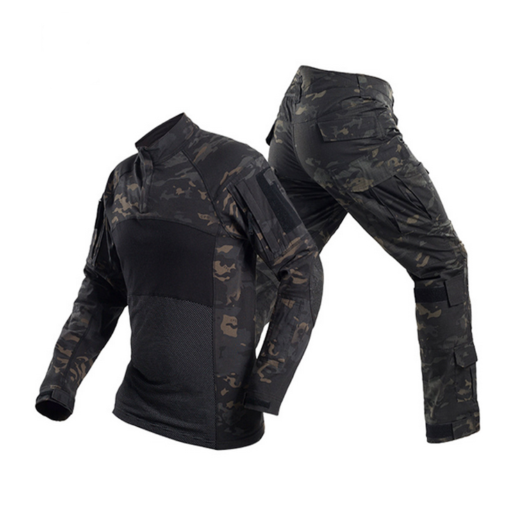 Top Selling black frog suit uniform long sleeve frog camouflage uniform army tactical suits