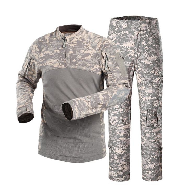 Top Selling Long Sleeve  Army ACU Frog Suit Uniform  Desert Camouflage Frog Suit Military Uniform