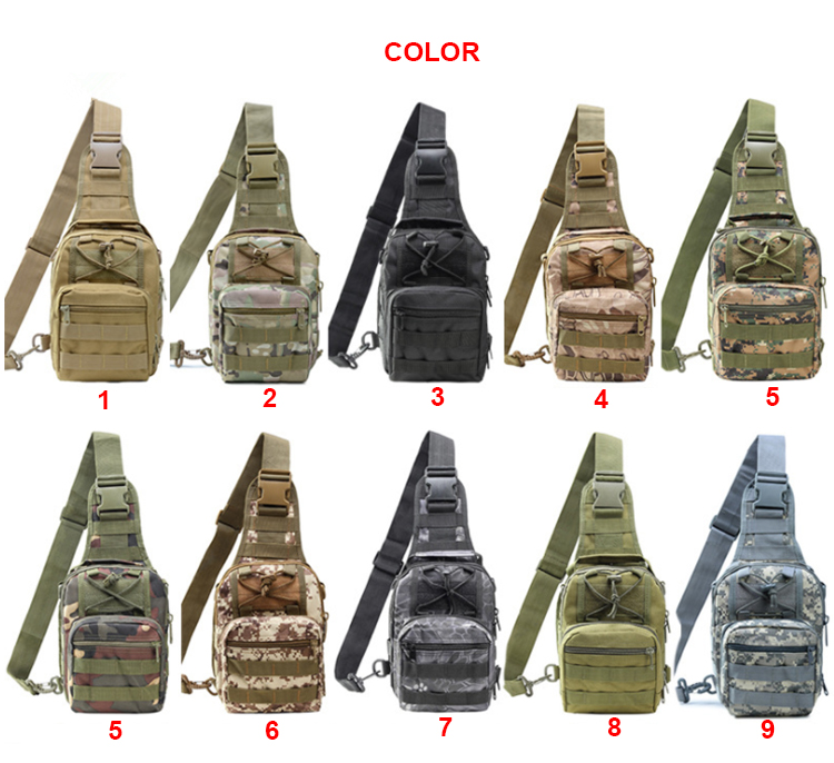 Outdoor custom camouflage military tactical sling pack bag army backpack tactical camoshoulder backpack for camping hiking