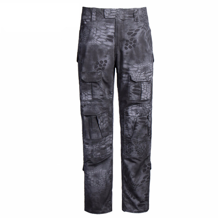 custom black camo tactical pants tactical python army pants outdoor