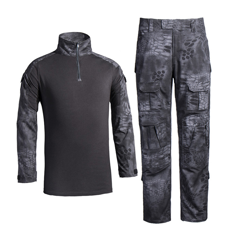 OEM Outdoor military clothing python black camouflage tactical suit army military uniform