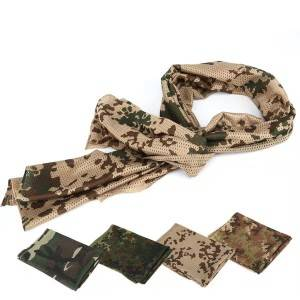 Camouflage scarf multi-functional camouflage tactical scarf outdoor air permeability sand proof camouflage scarf