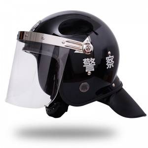 Black anti riot security patrol service helmet security equipment security defense articles