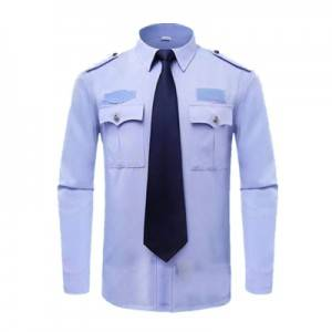 Security work clothes summer security property work clothes long sleeve shirt