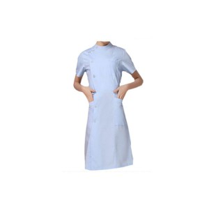 Hot Sell Medical white gown long sleeved female doctor nurse overalls