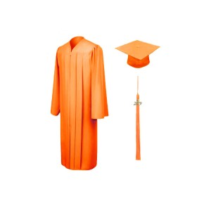 Hotsell Orange Matte Graduation Gown/ graduation gown manufacturer
