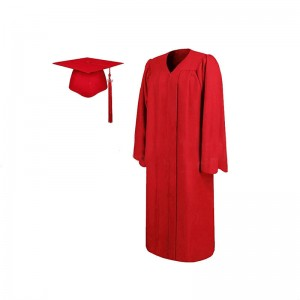 Hotsell Adult Red Matte Graduation Gown And Cap With Tassel