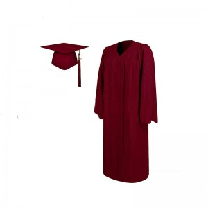Hotsell Adult Maroon Matte Graduation Gown And Cap With Tassel