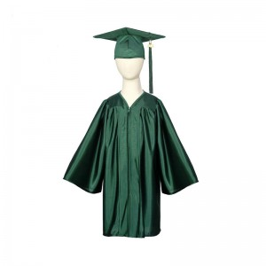 Chindren shiny graduation gown