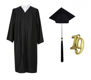 Hot sells matte graduation gown cap and tassel