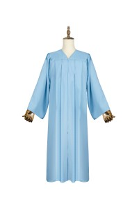 Hotsale Adult Light Blue Matte Graduation Gown