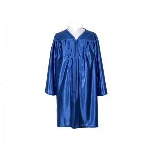 Hot sell Shiny kids graduation gown