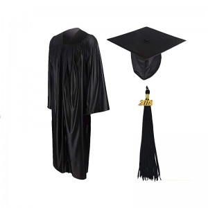 Hot Sell Adult Shiny Graduation Gown with Tassels