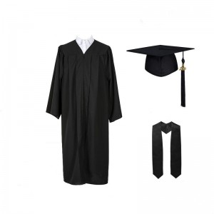 Hot sell Matte Black graduation robe