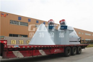 The customer from Gansu has shipped the quartz sand scrubbing machine and desilt bucket