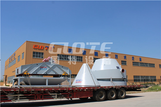 The dewatering sieve and desliming bucket of shaanxi customer have been shipped