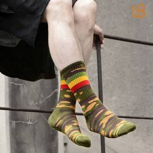 Camouflage Cotton Sock