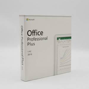 Microsoft Office 2019 Pro Plus Retail Box Medialess-contains product key