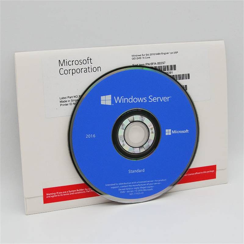 China New Product Office 2016 Standard Full Version - Certificated Microsoft Windows Server 2016 Datacenter– DVD Retail Box 16 core 64 Bit – Newtown detail pictures