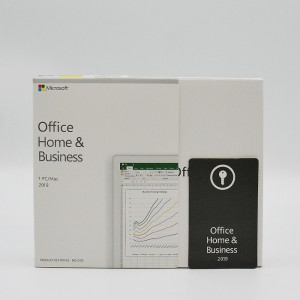 Genuine Microsoft Office 2019 Home and Business 1  License For PC/Mac Keycard