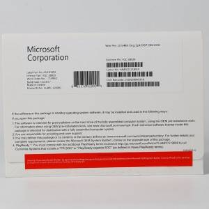 Microsoft win 10 pro OEM 64bit DVD , Made in USA, Ireland,HK,Singapore