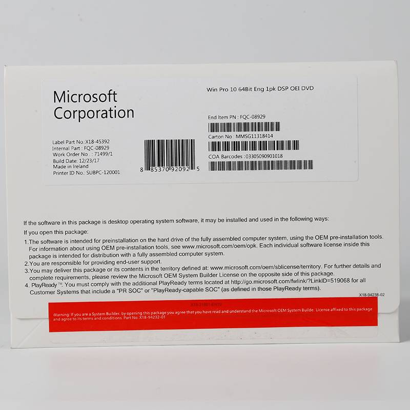 Factory making Microsoft Office Pro Plus 2016 - Microsoft win 10 pro OEM 64bit DVD , Made in USA, Ireland,HK,Singapore,Windows 10 Professional Product key – Newtown