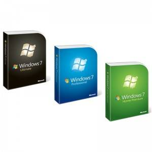 Full versjon Windows 7 Pro Ultimate Home Premium FPP Pack Retail Box