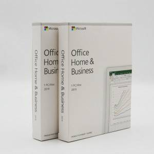 Microsoft Office Home and Business 2019 Download 1 Person Compatible with Win 10 and Mac OS