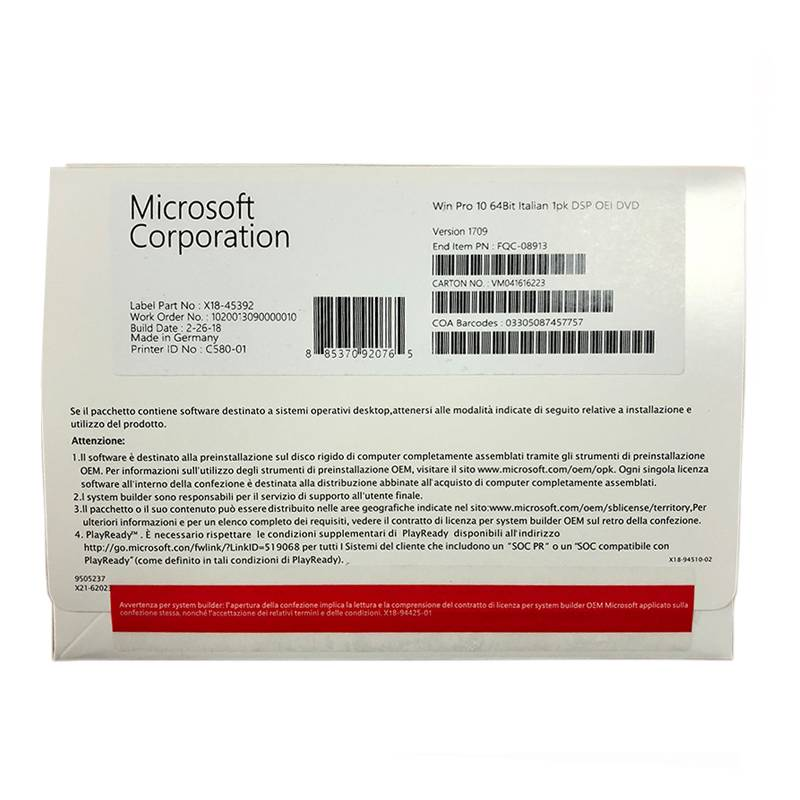 factory Outlets for Windows 10 Or Windows 10 Pro - MS Windows 10 Pro 64bit DVD OEM Windows 10 Pro 32bit OEM Win 10 Pro OEM Key – Newtown