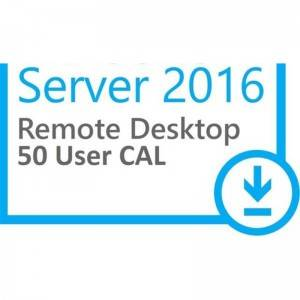 MS Win Server 2016 Remote Desktop Services RDS 50 User CAL