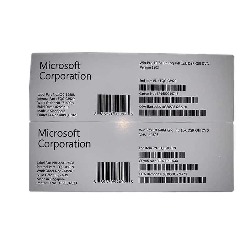 Popular Design for Computer Mim Parts - Microsoft Windows 10 Professional COA  Sticker Key Full Version License – Newtown detail pictures