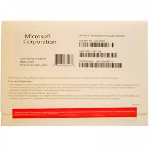 Genuine Microsoft Windows 8.1 Pro OEM pack inglese 1PK DSP DVD